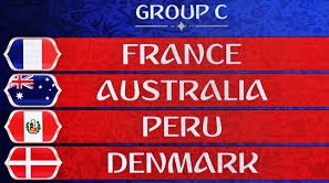 Group C on World Cup 2018: France, Australia, Peru and Denmark