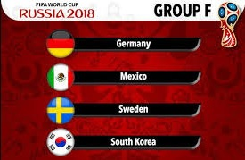 Group F on World Cup 2018: Germany, Mexico, Sweden and South Korea