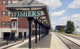 Indiana On Map Of Us.Map Of Fishers In Streets Roads Directions And Sights Of Fishers