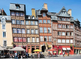 Map of Rennes France online Streets neighborhoods and sights of