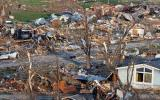 Oklahoma after the tornado: damaged state