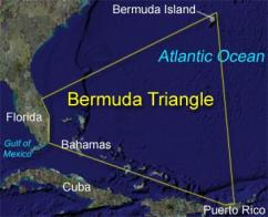 Where is Bermuda triangle on the map Exact location of Bermuda