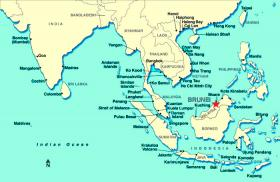 Where Is Brunei On The Map Exact Location Of Brunei And Coordinates - Where is brunei