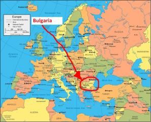 Bulgaria On Map Of World.Where Is Bulgaria On The Map Exact Location Of Bulgaria And