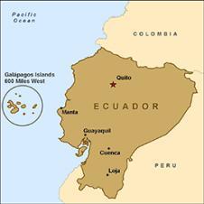 Where is Ecuador on the map Exact location of Ecuador and coordinates