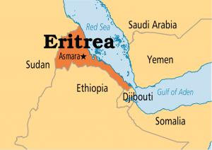 Where is Eritrea on the map Exact location of Eritrea and coordinates