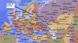 Where is Estonia on the map? Exact location of Estonia and coordinates.