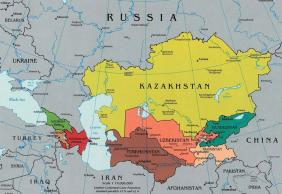 Where is Kazakhstan on the map Exact location of Kazakhstan and