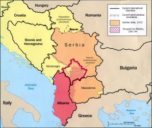 Kosovo Map In World. Image of Kosovo  Where is on the map Exact location and coordinates