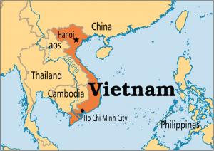 Where is Vietnam on the map? Exact location of Vietnam and coordinates.